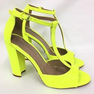 New Zara Neon Green Heels Size :39(38 US)